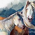 Cheyenne and Tripod Poster by Linda L Martin