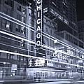Chicago Theater Marquee B and W Print by Steve Gadomski