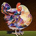 Chicken from Jamestown Poster by Bob Coonts