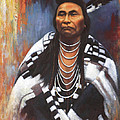 Chief Joseph Poster by Harvie Brown