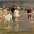 Children on the Beach Print by Edward Henry Potthast