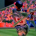 Chipper Jones Print by Rod Kaye