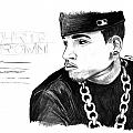 Chris Brown Drawing Poster by Kenal Louis