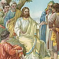 Christ and His Disciples Print by Ambrose Dudley