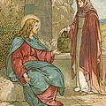 Christ and The Woman of Samaria Print by John Lawson
