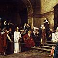 Christ Before Pilate Print by Mihaly Munkacsy