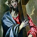 Christ Clasping the Cross Poster by El Greco