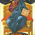 Christ Enthroned Icon  Print by Mark Dukes
