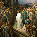 Christ Leaves his Trial Print by Gustave Dore