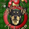 Christmas - Deck the Halls with Kelpies Poster by Renae Laughner