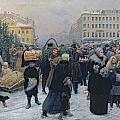 Christmas Fair  by Heinrich Matvejevich Maniser