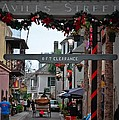 Christmas on Aviles Street Print by DigiArt Diaries by Vicky B Fuller