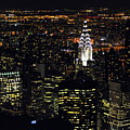 Chrysler Building At New York City Poster by Philippe Brunel