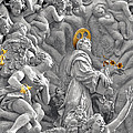 Church of St James the Greater Prague - Stucco bas-relief Poster by Christine Till