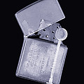 Cigarette Lighter, Simulated X-ray Print by Mark Sykes