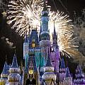 Cinderella Castle Spectacular Print by Charles  Ridgway