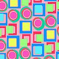 Circles and Squares Poster by Louisa Knight