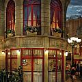 City - Vegas - Paris - Le Cafe Print by Mike Savad