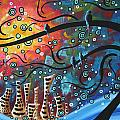 City by the Sea by MADART Poster by Megan Duncanson