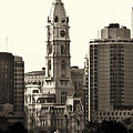 City Hall from the Parkway - Philadelphia Print by Bill Cannon