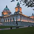 City Hall Illuminated Belfast, County Poster by Peter Zoeller