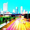City of Austin from the walk bridge Poster by James Granberry