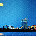 Clearwater at Night Print by Bill Cannon
