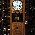 CLOCK WINE RACK Poster by VALIA BRADSHAW