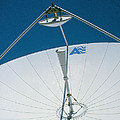 Close Up Of A Satellite Receiver Dish Print by David Parker