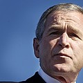 Close Up Of President George W. Bush Poster by Everett