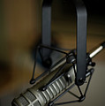 Close-up Of Recording Studio Microphone Print by Christopher Kontoes
