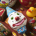Clown Rattle And Old Toys Print by Garry Gay