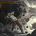 Coal Mine Explosion, 19th Century Poster by Sheila Terry