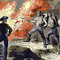 Coal Mine Fire, 19th Century Poster by Sheila Terry