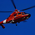 Coast Guard Helicopter Print by Stocktrek Images