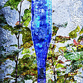 Cobalt Blue Bottle Triptych 1 of 3 Poster by Andee Photography