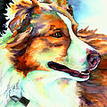 Cocoa Lassie Collie Dog Poster by Christy  Freeman