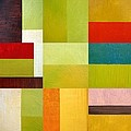 Color Study Abstract 9.0 Print by Michelle Calkins