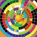 Color Wheel Print by Gary Grayson