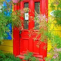 Colorful Entrance ... Print by Juergen Weiss