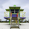 Colorful Lifeguard Station Print by Jeremy Woodhouse