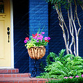 Colorful porch Poster by Toni Hopper