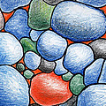 Colorful Rock Abstract Print by Nancy Mueller