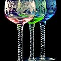 Colorful wine glasses Poster by Gert Lavsen