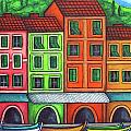 Colours of Liguria Print by Lisa  Lorenz