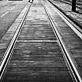 completed tram rails on princes street edinburgh scotland uk united kingdom Poster by Joe Fox