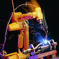 Computer-controlled Arc-welding Robot Print by David Parker, 600 Group Fanuc