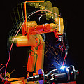 Computer-controlled Electric Arc-welding Robot Poster by David Parker, 600 Group Fanuc