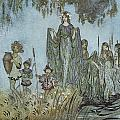 Comus Sabrina rises attended by water-nymphs Poster by Arthur Rackman