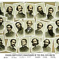 Confederate Commanders of The Civil War Print by War Is Hell Store